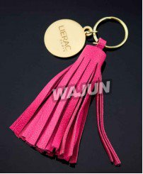 fashional leather tassel keychain