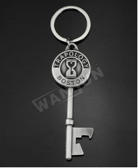 Key shape metal plating nikel personalised keychain