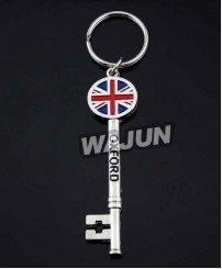 metal key shape keychain