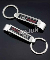 Multi-function Screen printing logo metal bottle opener keychain