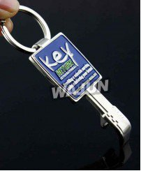Odd shape key shape soft enamel metal bottle opener keychain