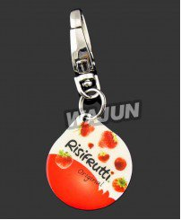 Printing photo strawberry fruit aluminum keychain promo
