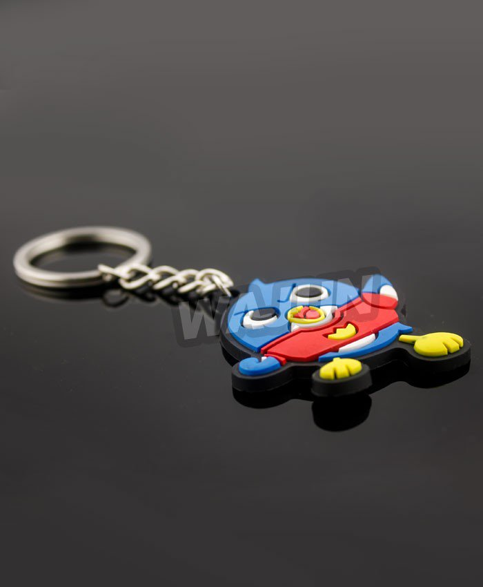 Blue Angry birds 3D pvc rubber keychain china manufacturer