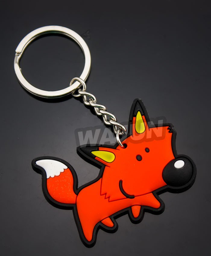 Customized newest rubber soft pvc colorful key chain